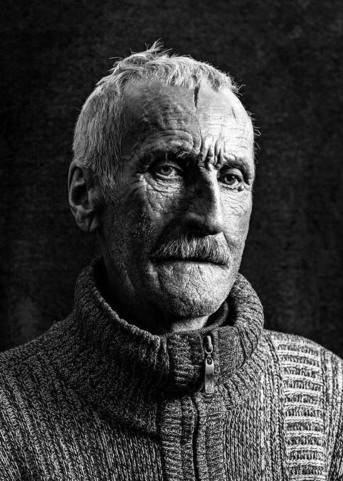 Portrait d'homme, noir et blanc, séance photo à Strasbourg