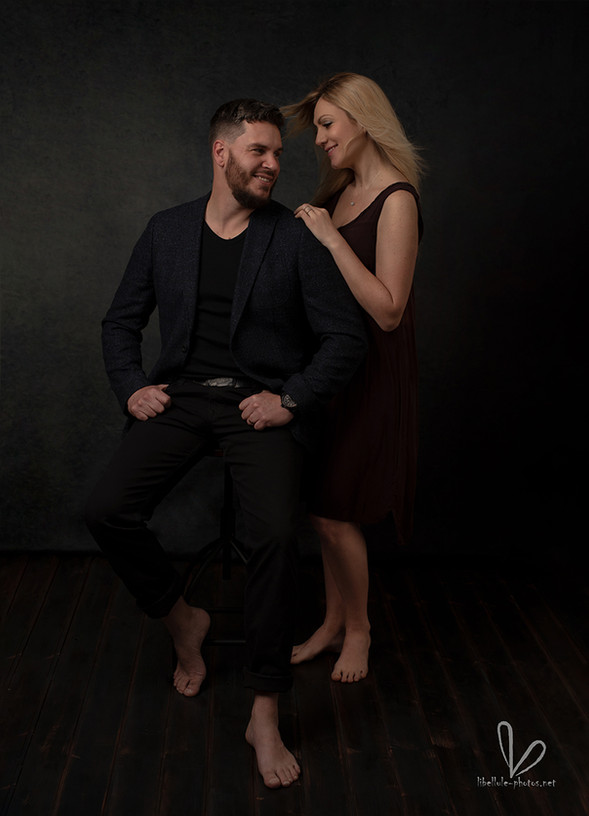 Photo de couple en studio à Molsheim