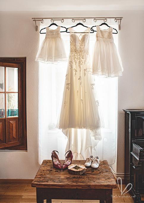 Robe de mariée. Photos de mariage.