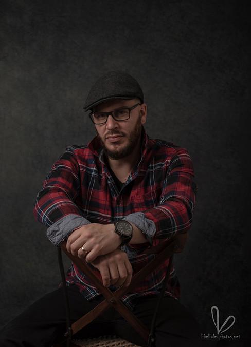 Portrait d'homme en studio photos à Molsheim