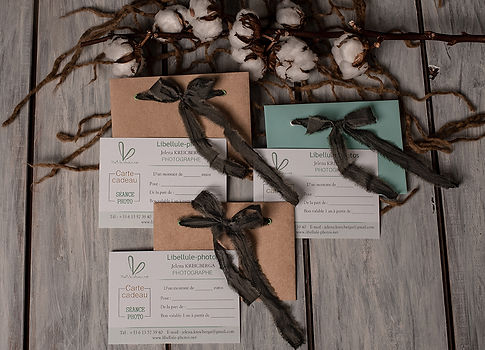 Carte Cadeau pour séance photo.