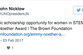 Spreading the word about the Emmy Noether Award!