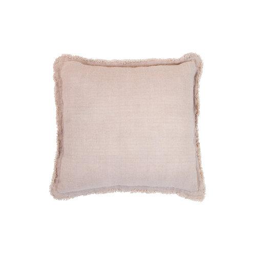 Bless Linen Cushion Peach Square