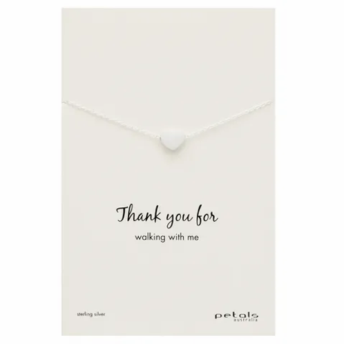 Silver Thank You Necklace