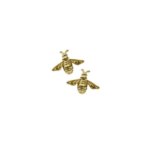Yellow Gold Bee Stud Earrings