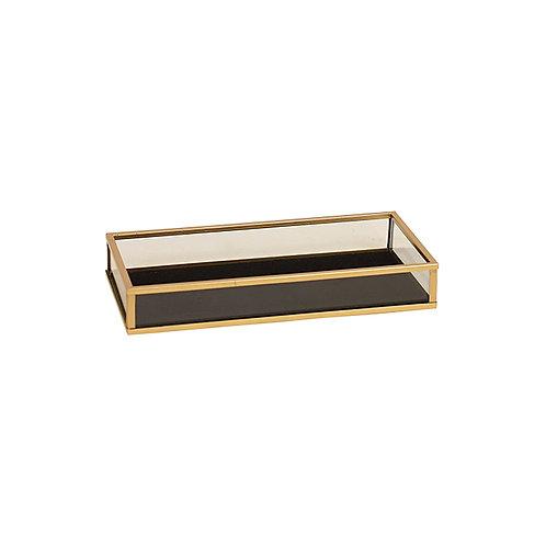 copy of Armen Gold Black Glass Rectangular Tray - Small
