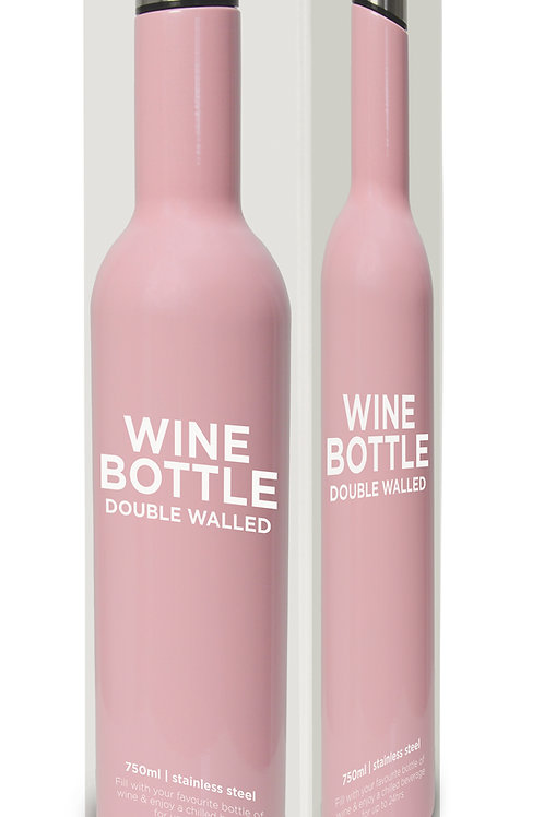 Wine Bottle Stainless Steel - Gloss Candy