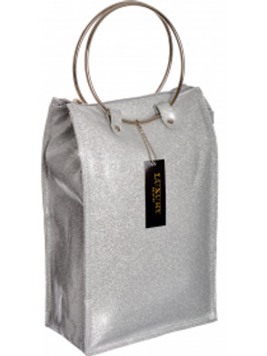 Lush Wine Cooler Hand Bag - Silver