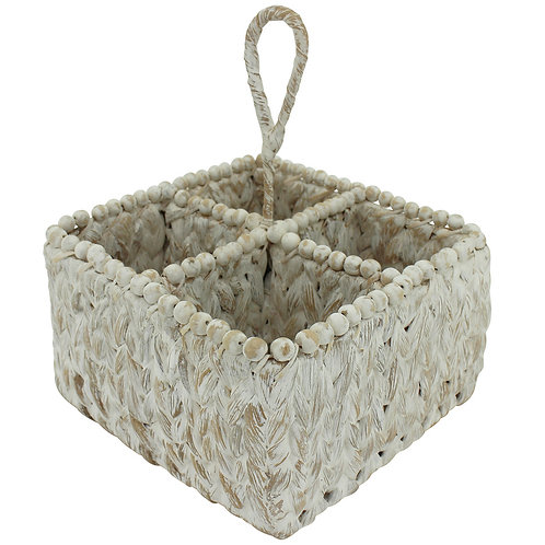 Basket Wine Caddy White