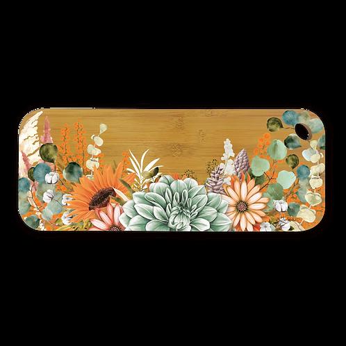Bamboo Serving Platter - Tangerine Bouquet