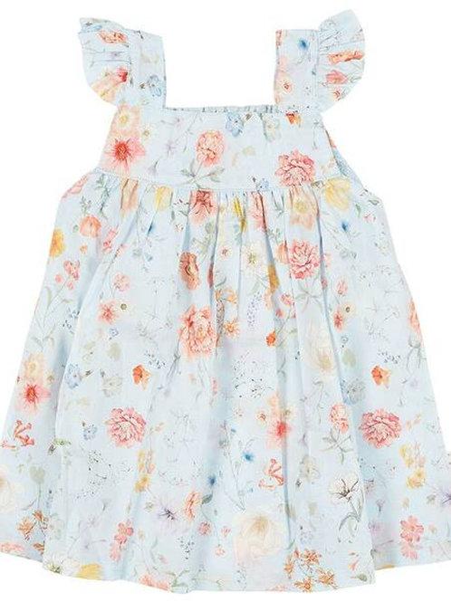 Baby Dress Secret Garden Sky