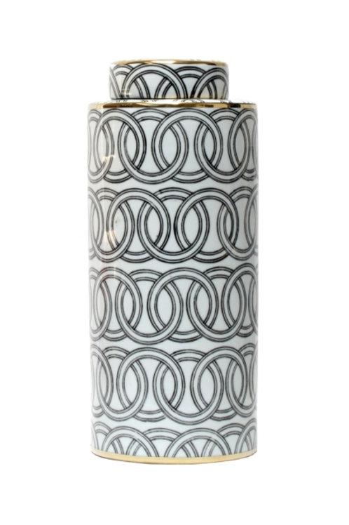 Jar - Black & White Cylinder Links