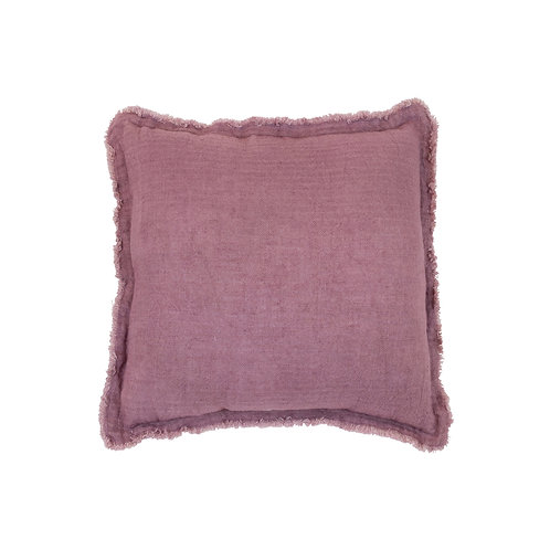 Bless Linen Cushion Plum Square