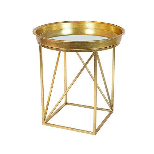 Beesen Gold Iron & Mirror Round Table