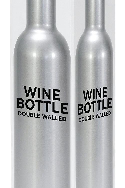 Wine Bottle Stainless Steel - Silver
