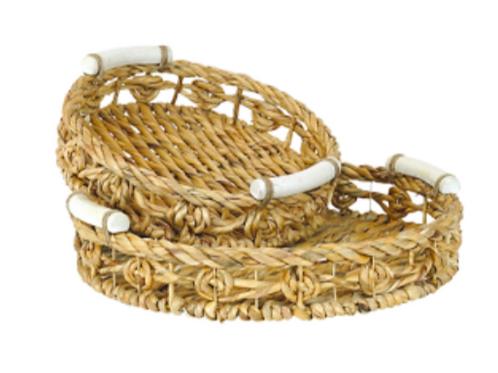 Tora Hyacinth Round Tray - Large
