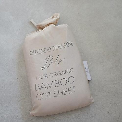 100% ORGANIC BAMBOO COT SHEETS