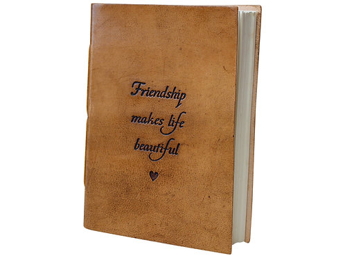 Leather Notebook - Friendship