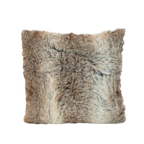 Charlotte Tan Fur Suede Cushion