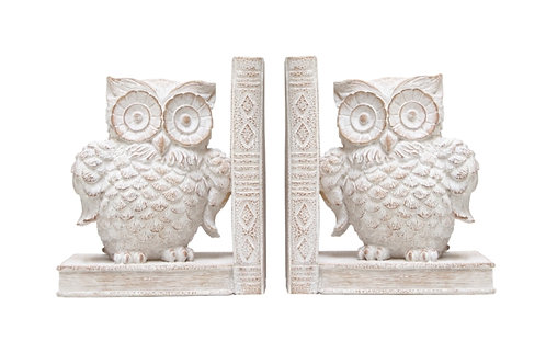 Bookends - Owl Natural