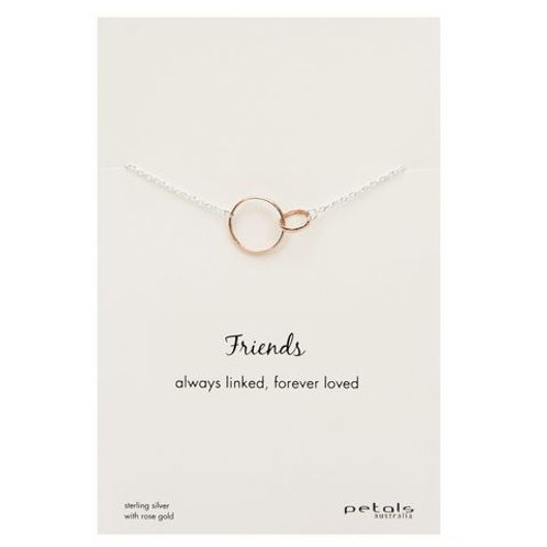 Friends Linked Sterling Silver Necklace