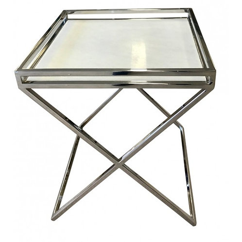 Chrome X Style Square Table