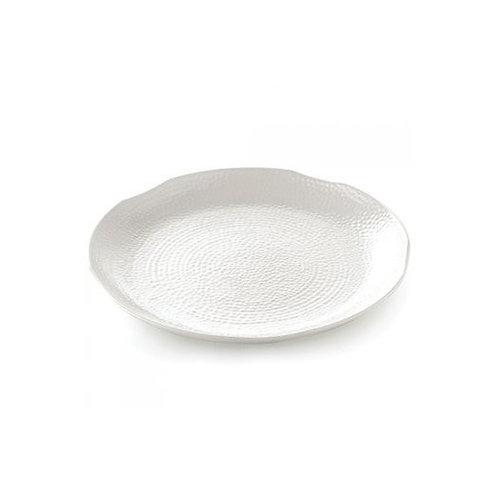 Bella Tavolo Round Texture Platter Large White