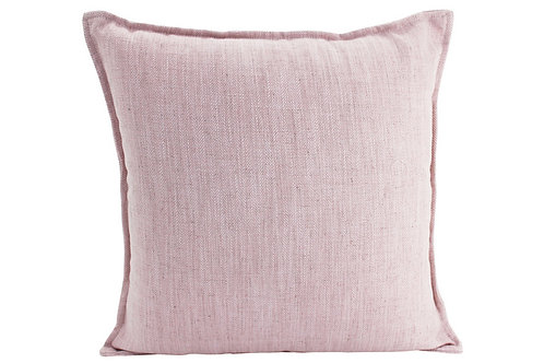 Linen Baby Pink Cushion X Large