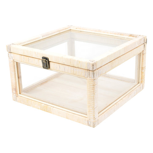 Devon Rattan Timber & Glass Case Large