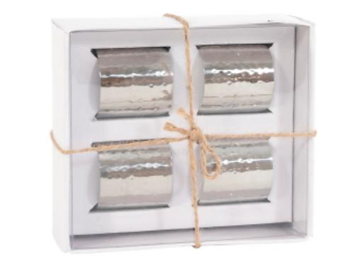 Essex S/S Silver Beaten Napkin Rings