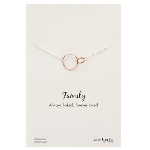 Family Sterling Silver Necklace