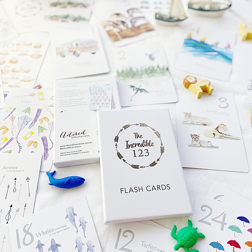The Incredible 123 Flash Cards