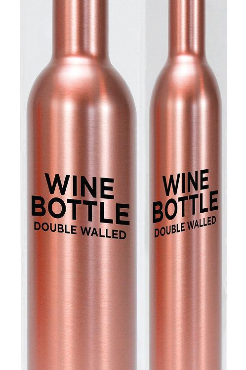 Wine Bottle Stainless Steel - Rose Gold
