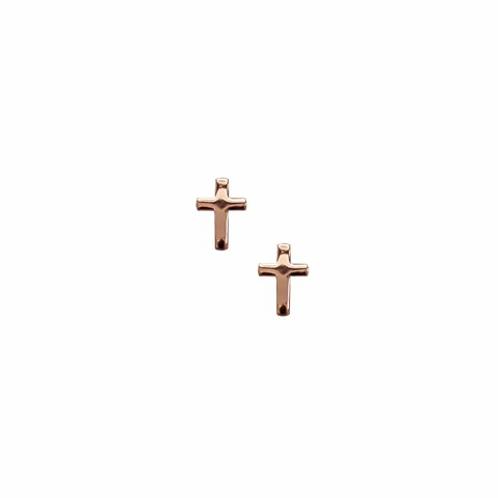 Rose Gold Cross Stud Earrings