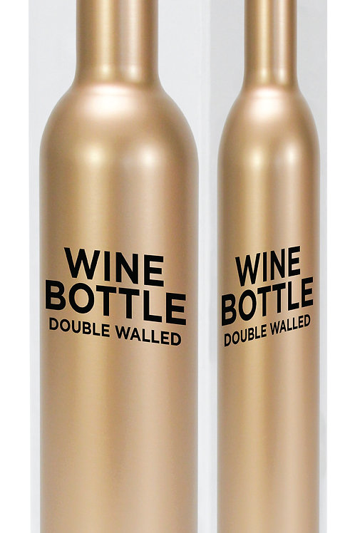 Wine Bottle Stainless Steel - Gold
