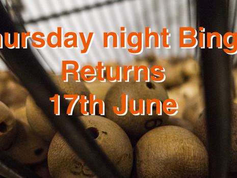 Thursday Night Bingo Returns
