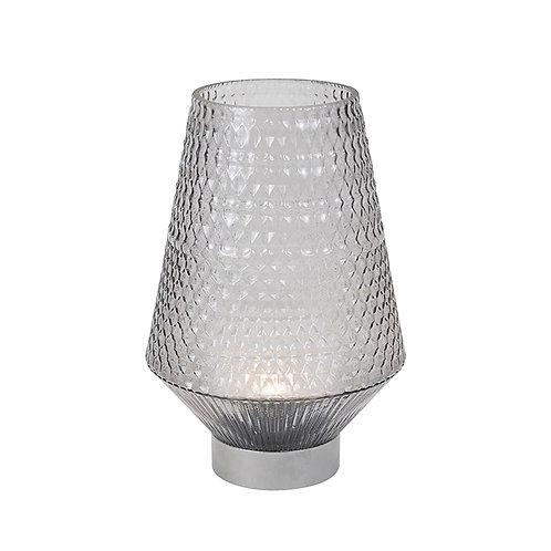 LED Silver Hurricane Lamp - Tall