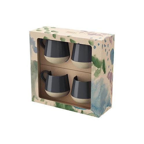 Mug 4pk - Charcoal Bottoms Up
