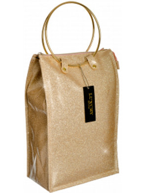 Lush Wine Cooler Hand Bag - Gold