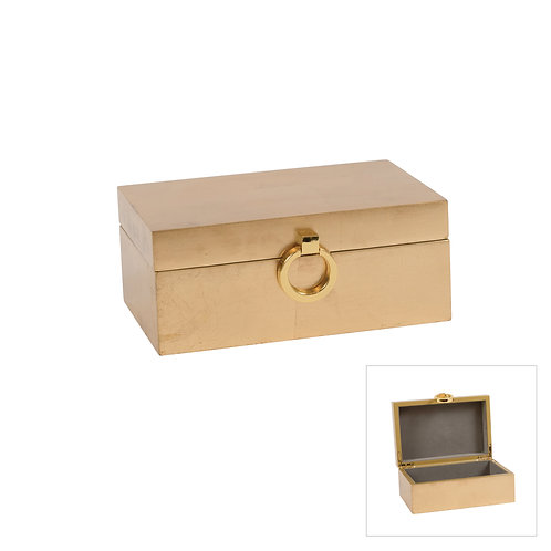 Nobes Laquer Gold Keepsake Box Sml