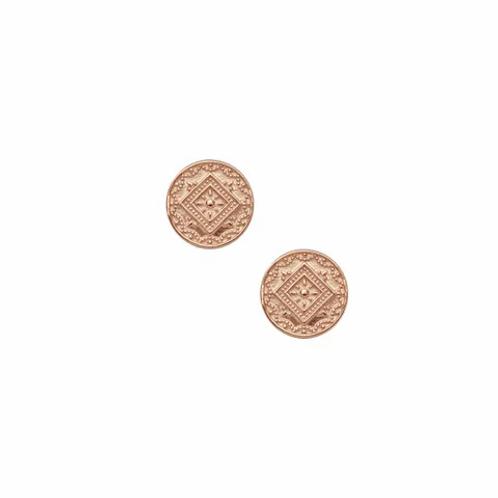 Rose Gold Aztec Stud Earrings