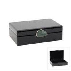 Black & Emerald Stone Jewellery Box (Large)