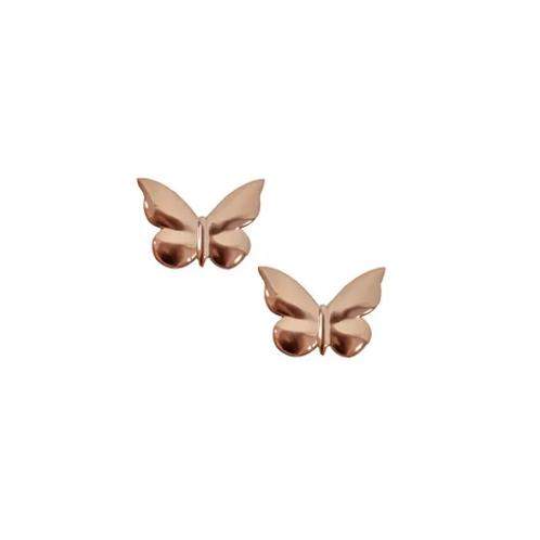 Rose Butterfly Stud Earrings