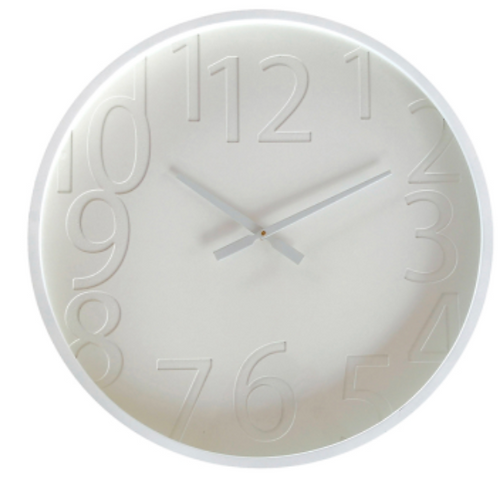 Fritz White Contemporary Wall Clock