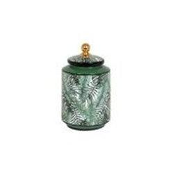 Tilda Green Leaf & Gold Jar Round Small