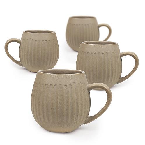 Light Clay Hug Me Tribe Mugs - 4 Pack