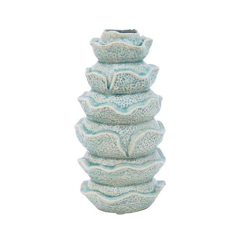 Willis Ceramic Aqua Stick Bud Vase Large