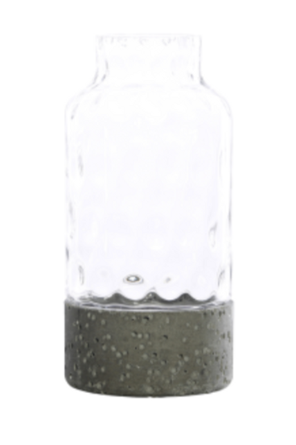 Nook Grey Pulp & Glass Hurricane - Narrow