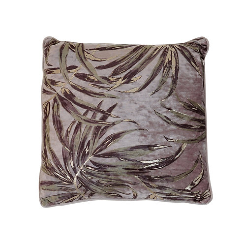Webb Velvet Leaf Cushion Mauve