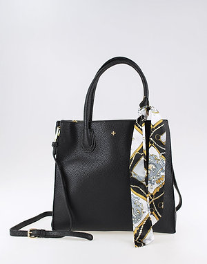 Peta+ Jain Holly Large Tote Bag w/ Scarf - Black
